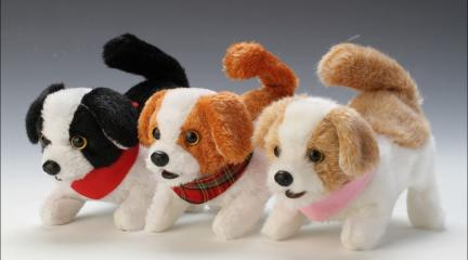 Stuffed Dog Toy With Kennel