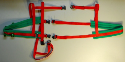 Christmas Bell Goat Harness 2
