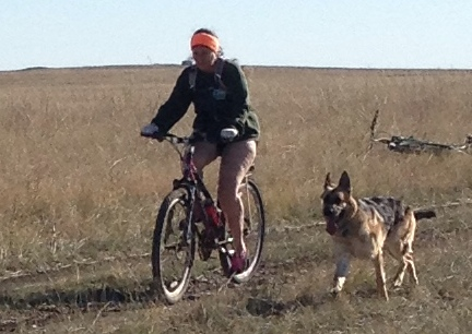 Marna on Prairie with Tekoa 2014-10-25
