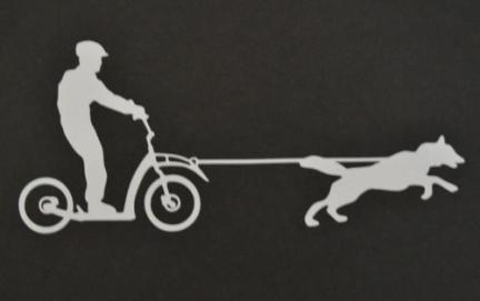 Dog Scooter Sticker